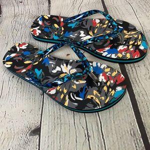 Vera Bradley Floral Brush Stroke Flipflop Sandals